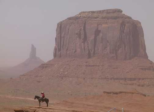 Dusty at Monument Valley