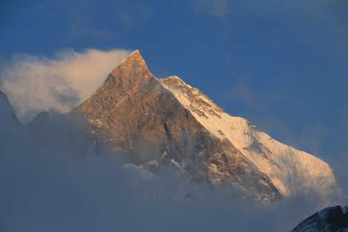 Fishtail sunset from Machhapuchhare Base Camp