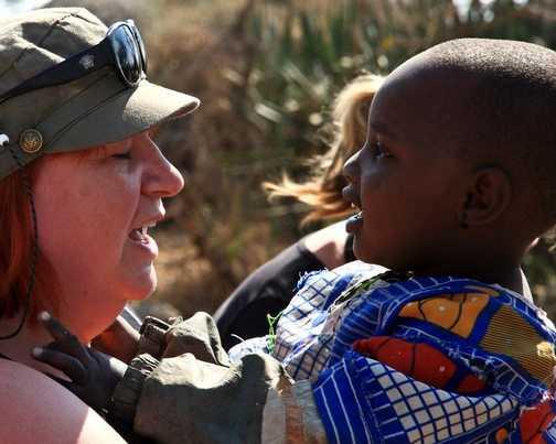 Annie and Masai Girl