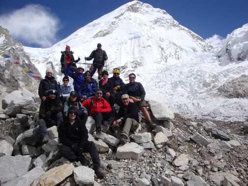 The group at Base Camp