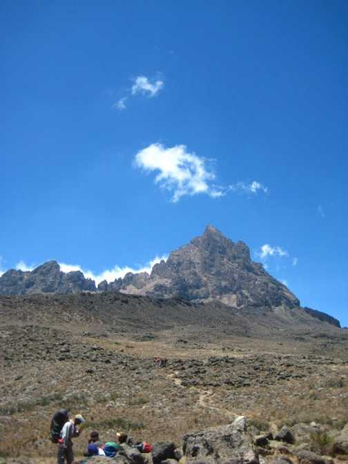 on the way  to Kilimanjaro