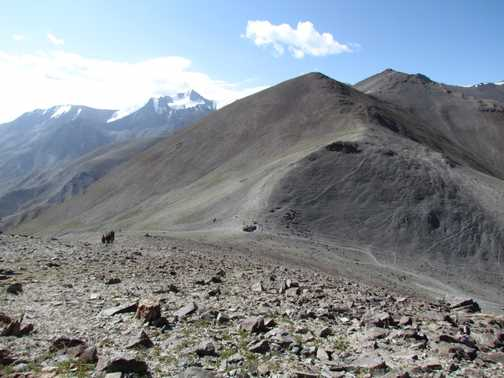 Looking down to the Glacier