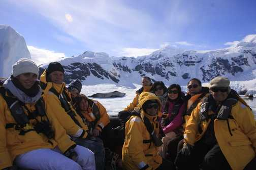 zodiac group with leopard seal