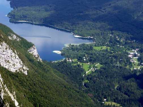 Viewpoint of lake below