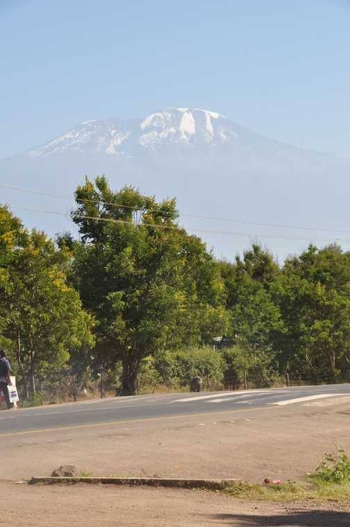 Kilimanjaro in the distance