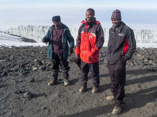Assistant Guides at the Summit