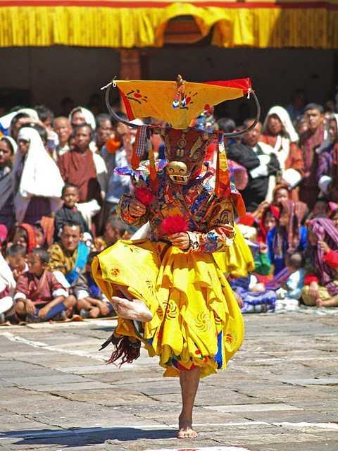 Dancer at Thimphu festival