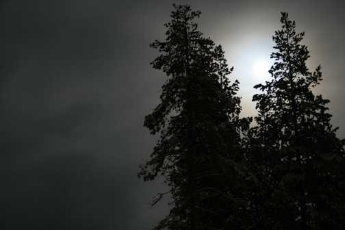 Moonlight at Basecamp Oulanka