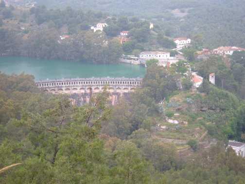 View of the reservoir - El Chorro gorge