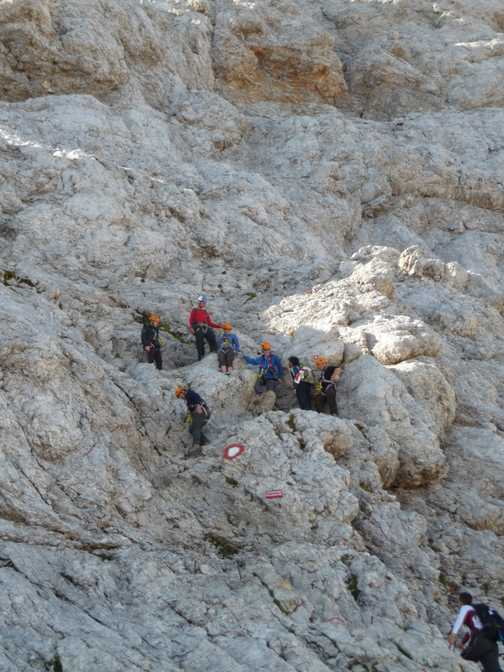 Day 5 -Climbing down the last pitch of Via Ferrata