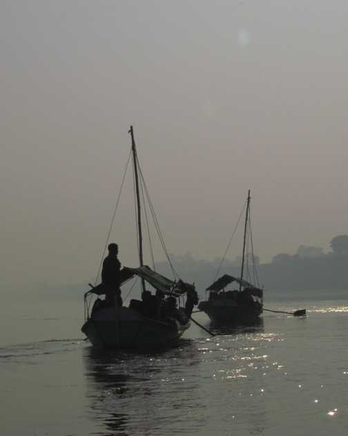 Early morning on the Ganges