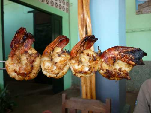Camarones lunch at Belo-sur-Tsiribihina