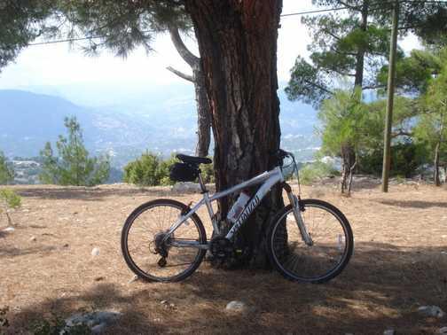 Bike on mountain - Turkey