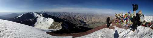Panorama with summit on the right