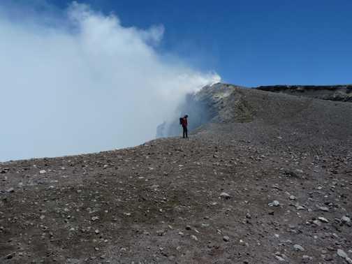 crater rim - Mt Etna
