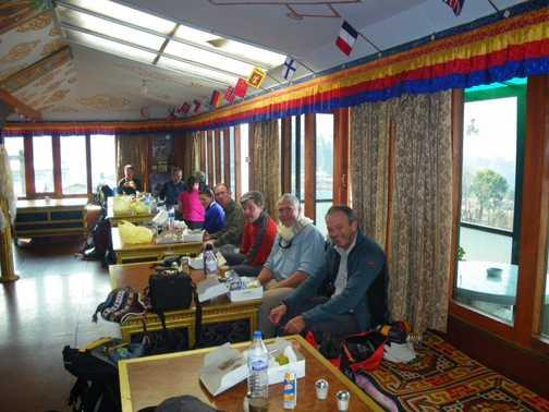 29/3 Breakfast in Lukla after early flight