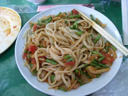 Lunch liocal style handmade noodles