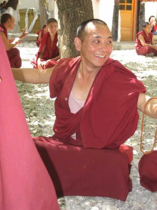 Debating monk at Sera monastery