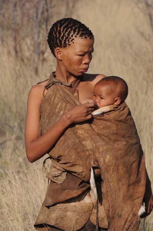 Bushmen - Mother & Baby