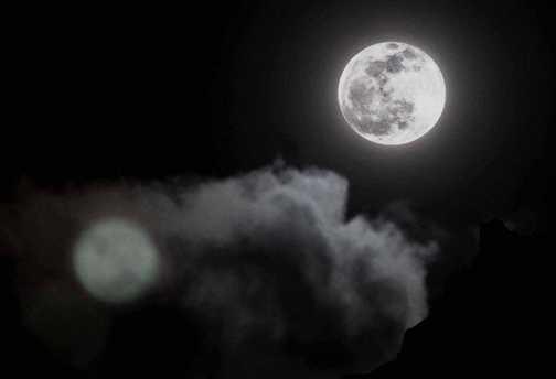Full moon at Camp 1