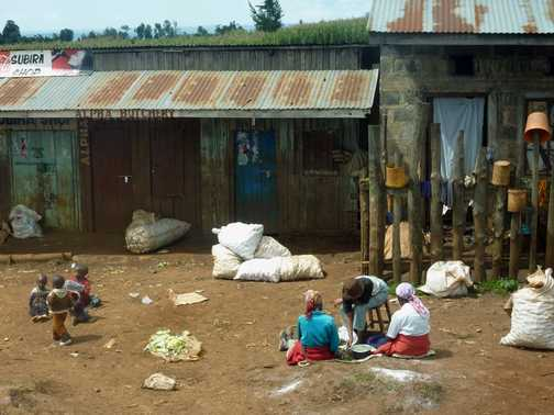 Roadside traders - on the road to Eldoret, Kenya
