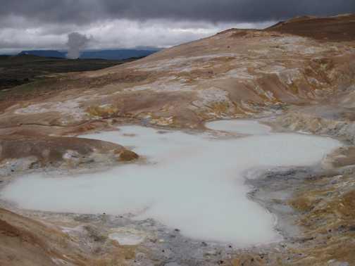 Lake of volcanic water