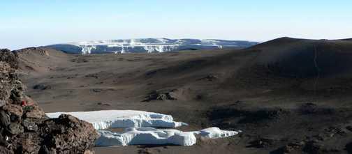 Kili summit glaciers