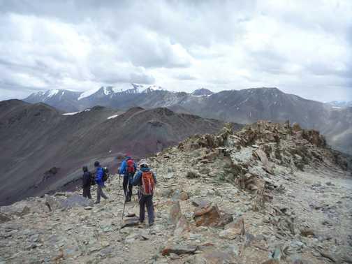 Descent of Palam Peak