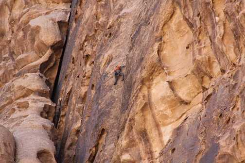 Climber   Siq el Barrah  Wadi Rum