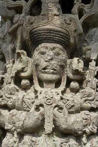 Carved stela, Copan