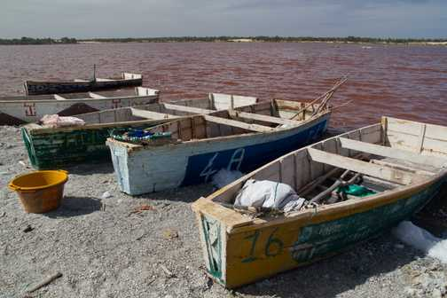 Boats on Lac Rose