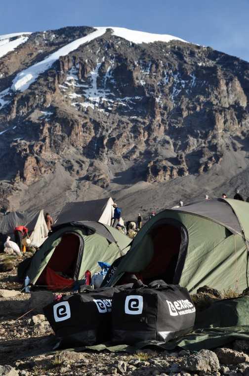 Camping under Kibo at Karanga Camp