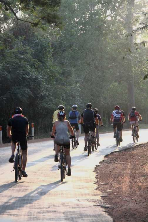 Cyclists in Cambodia