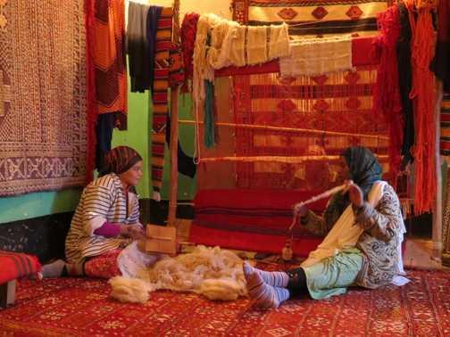 Carpet co-operative in Tinghir
