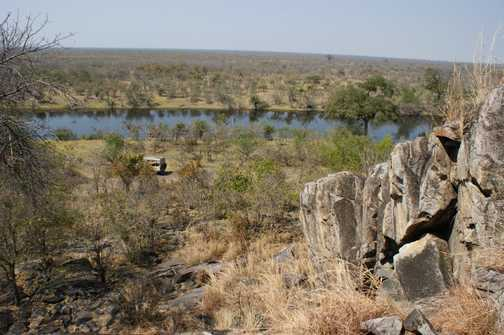 view over Savuti Marsh