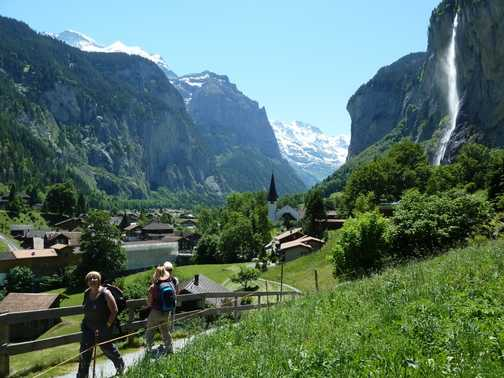 First day - walking in the Lauterbrunnen valley