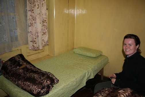 Tea house room in Namche