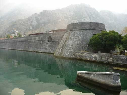The walls at Kotor, Montenegro