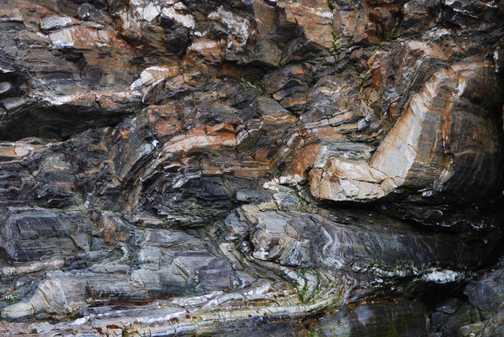 Folded rocks