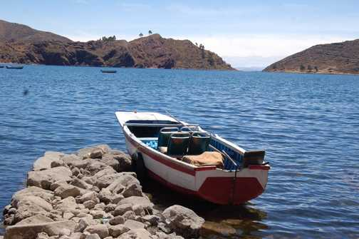 Tranquil moment on Lake Titicaca