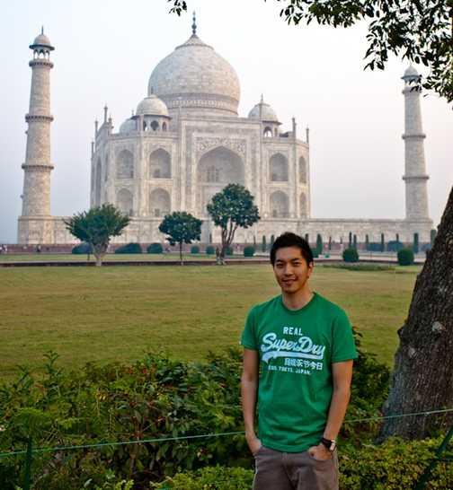 Avtar, our group leader at the Taj Mahal.