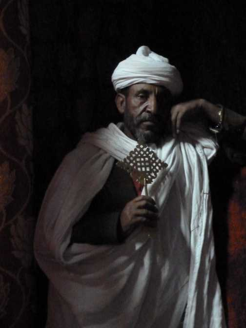 Lalibela priest - Rembrandt style