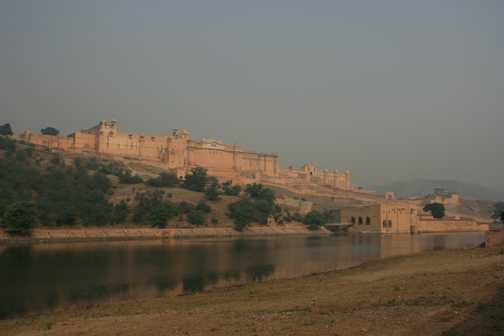 Amber Fort from Lake Maota