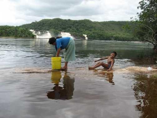 Locals at Canaima National Park, Venezuela