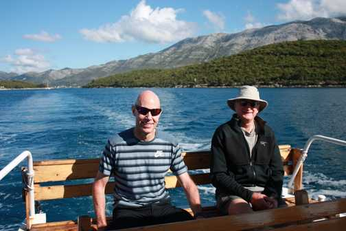2 men in a boat