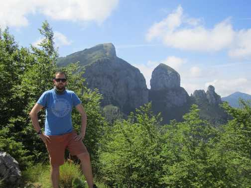 Taking a break on Monte Forato