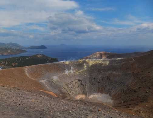 Looking across Vulcano's crater