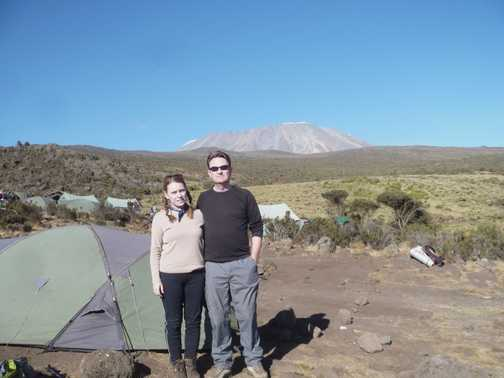 Mess tent with Kili view
