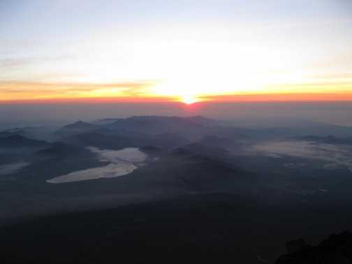 Sunrise, from Mt Fuji
