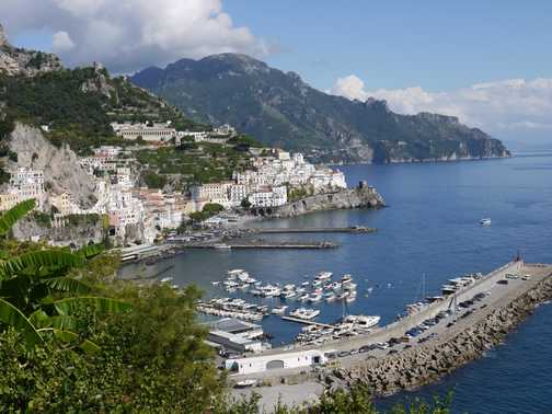 The Amalfi harbour